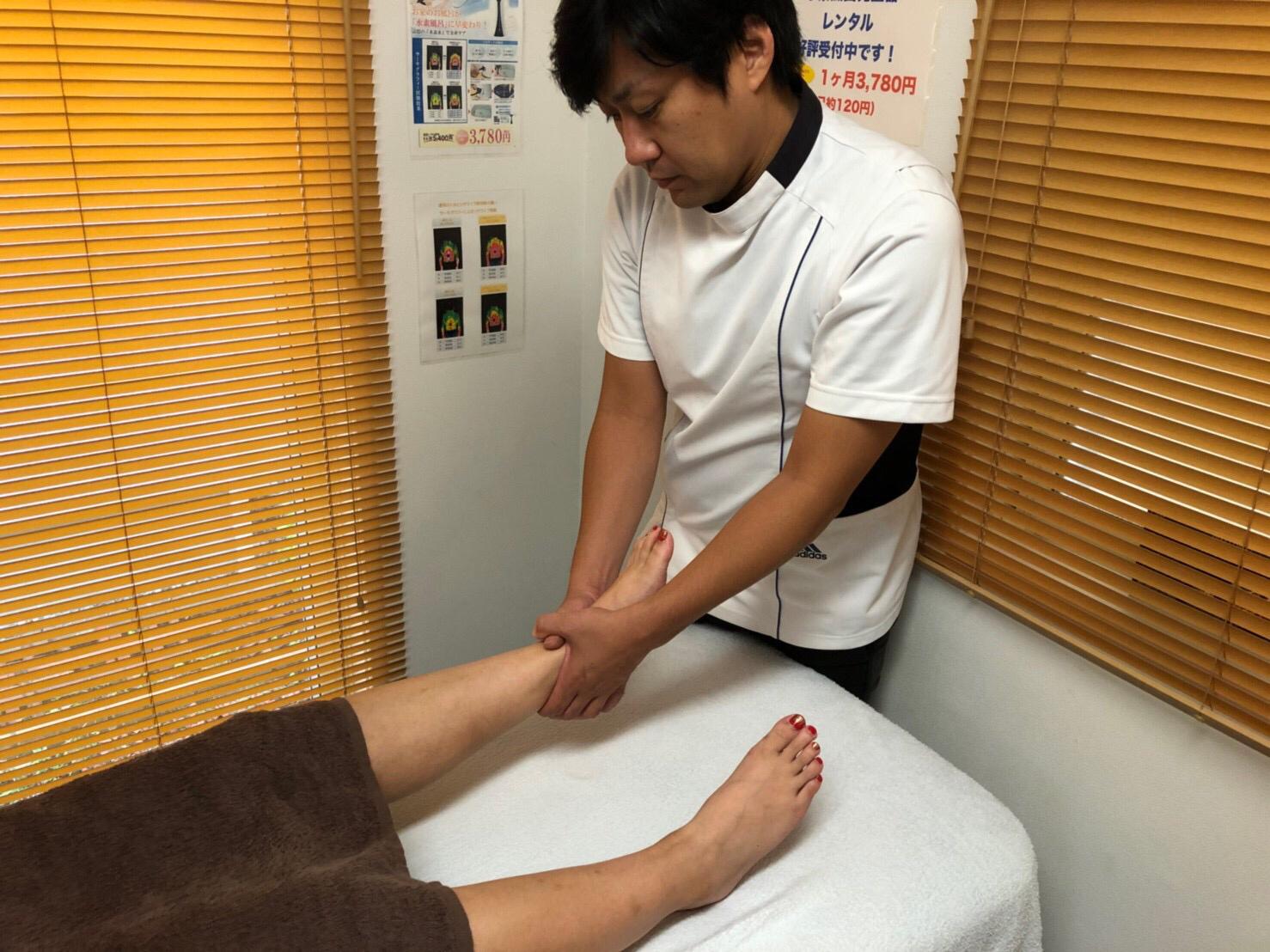 足首の捻挫施術イメージ