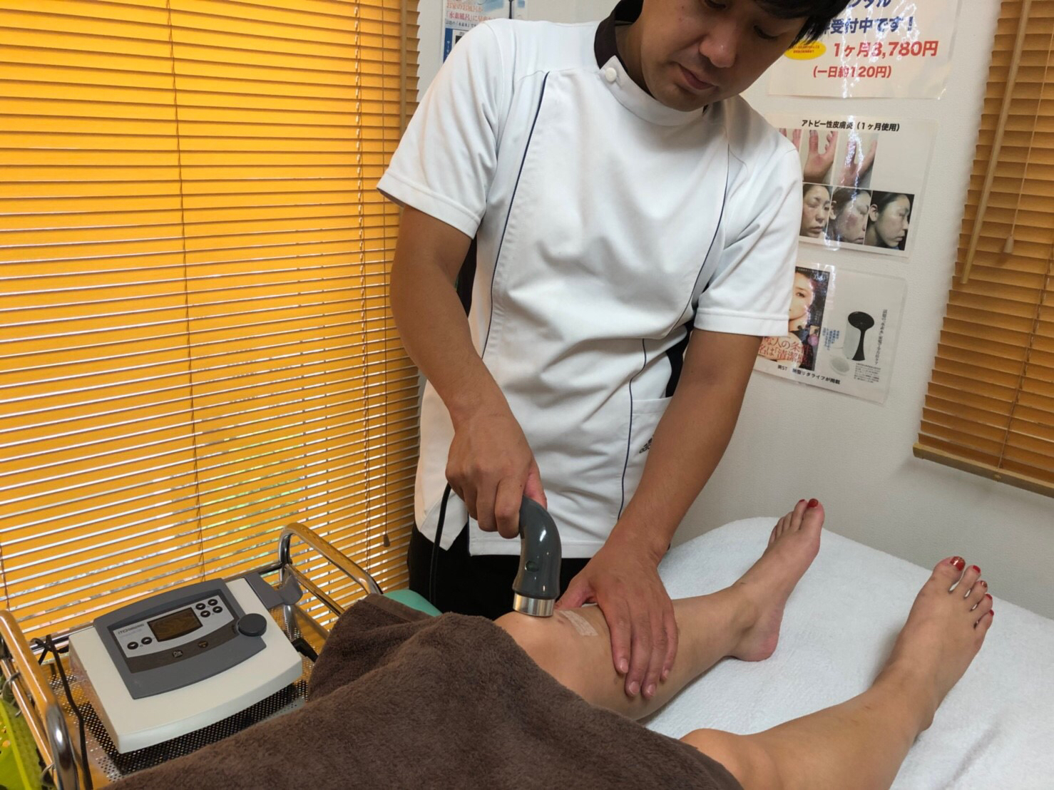 変形性膝関節症施術イメージ
