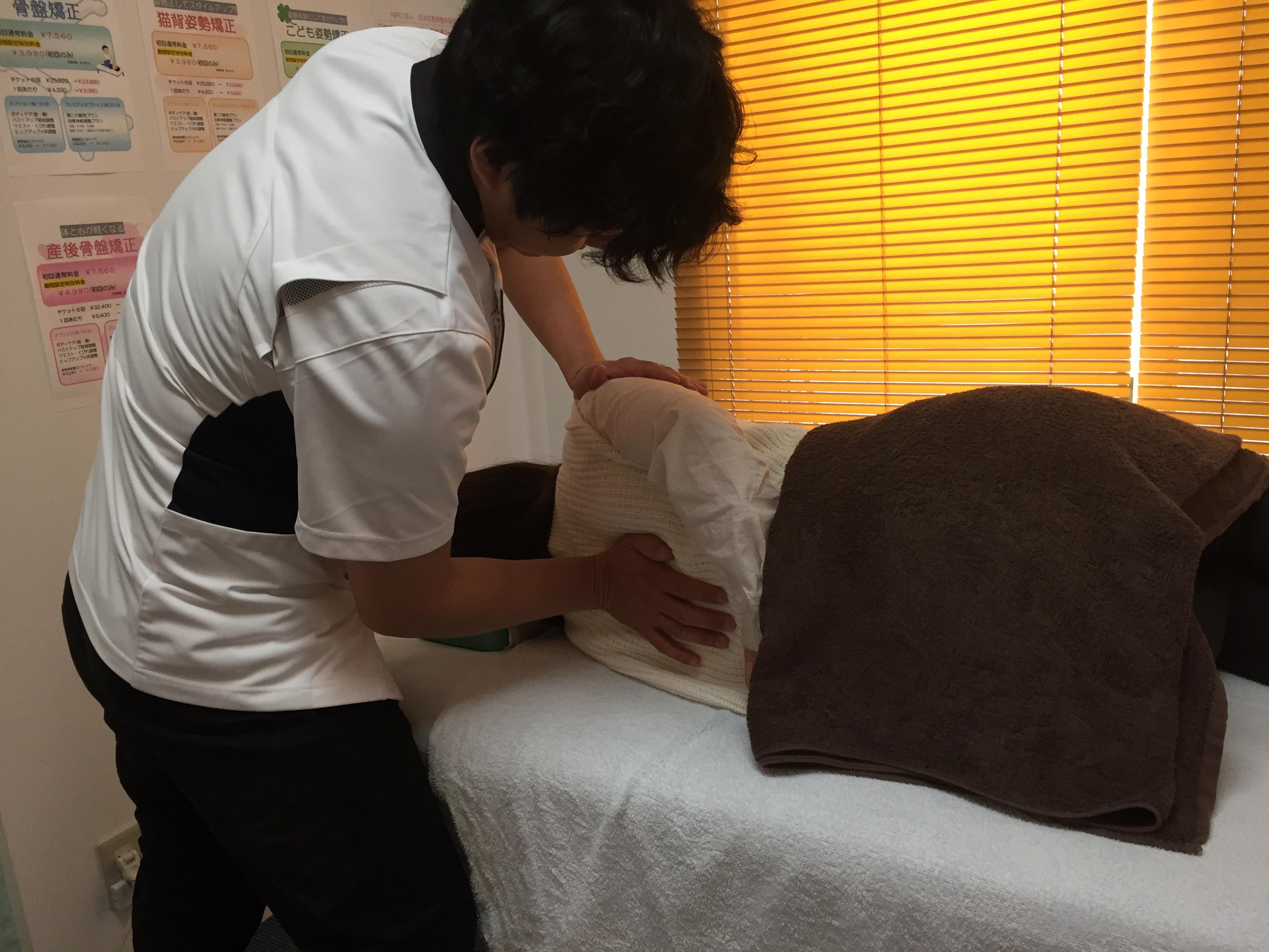 腰部脊柱管狭窄症施術イメージ